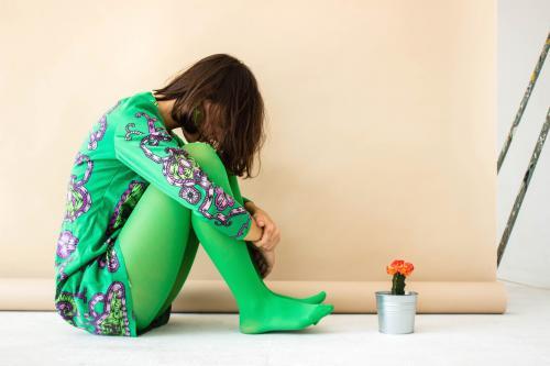 Vestido verde época